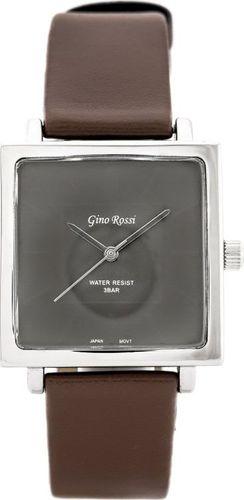 Zegarek Gino Rossi GINO ROSSI - SIMPLY (zg501g) silver/brown uniwersalny
