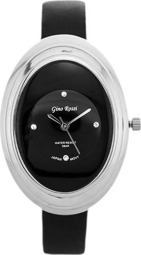 Zegarek Gino Rossi GINO ROSSI - 6666A (zg573b) black/silver/black uniwersalny