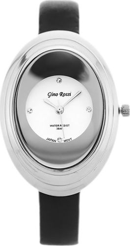 Zegarek Gino Rossi GINO ROSSI - 6666A (zg573a) pearl/silver/black uniwersalny