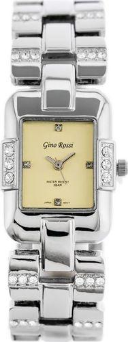 Zegarek Gino Rossi GINO ROSSI - 6721B (zg565a) silver/gold uniwersalny