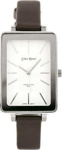Zegarek Gino Rossi GINO ROSSI - COLIN (zg535c) white/silver/brown uniwersalny