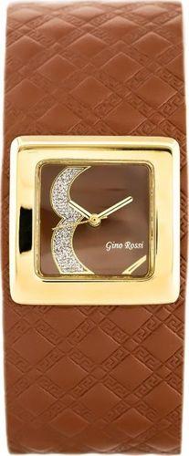 Zegarek Gino Rossi GINO ROSSI - ALBE (zg645b) brown uniwersalny