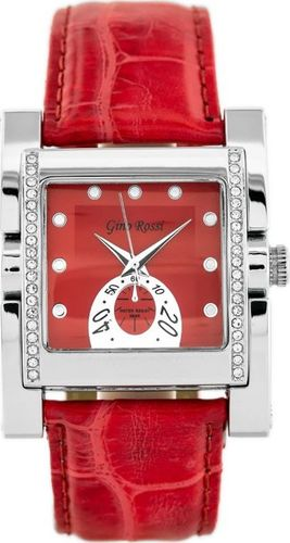 Zegarek Gino Rossi GINO ROSSI - 6814A (zg564c) red/silver uniwersalny