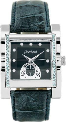 Zegarek Gino Rossi GINO ROSSI - 6814A (zg564e) gray - blue/silver uniwersalny