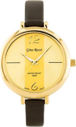 Zegarek Gino Rossi GINO ROSSI - TOREZ (zg508e) gold/brown uniwersalny