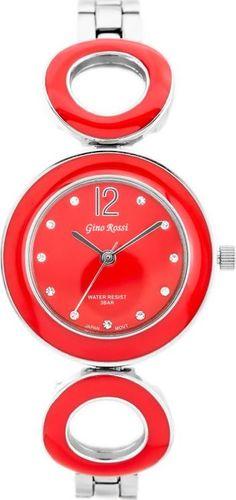 Zegarek Gino Rossi Gino Rossi 8223B - SFERICO (zg518g) silver/red uniwersalny