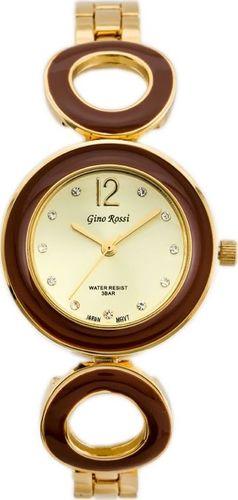 Zegarek Gino Rossi Gino Rossi 8223B - SFERICO (zg518c) gold/brown uniwersalny