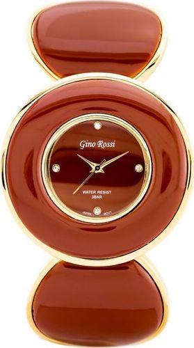Zegarek Gino Rossi GINO ROSSI - 8313B (zg514g) gold/brown uniwersalny
