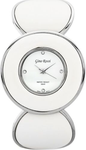 Zegarek Gino Rossi GINO ROSSI - 8313B (zg514a) silver/white uniwersalny