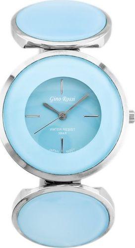 Zegarek Gino Rossi GINO ROSSI - 8449B (zg513d) silver/blue uniwersalny