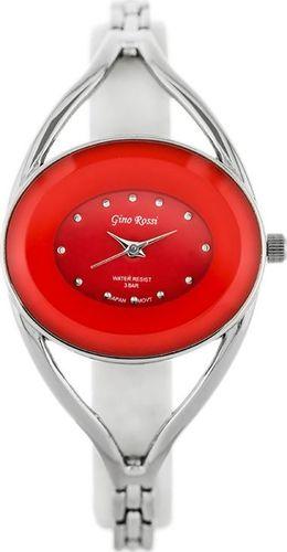 Zegarek Gino Rossi GINO ROSSI - ATIUDE (zg648h) silver/red uniwersalny