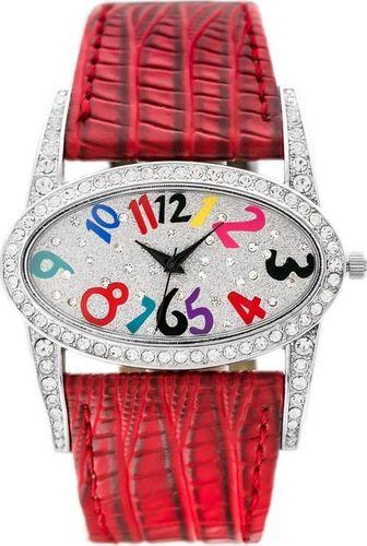 Zegarek Gino Rossi GINO ROSSI - 8882A (zg559f) silver/red uniwersalny