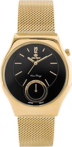 Zegarek Gino Rossi GINO ROSSI - COBALTO 2 (zg640h) gold/black uniwersalny