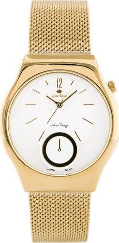 Zegarek Gino Rossi GINO ROSSI - COBALTO 2 (zg640g) gold uniwersalny
