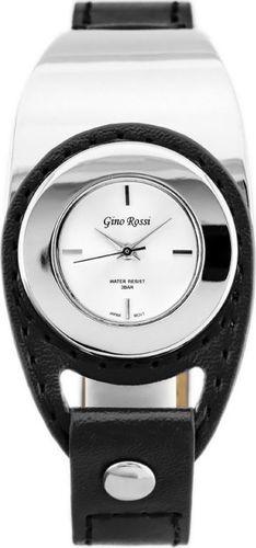 Zegarek Gino Rossi GINO ROSSI - VIVO (zg658d) silver/black uniwersalny