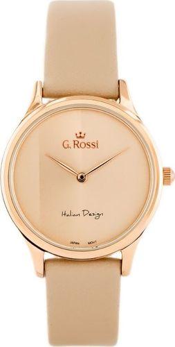 Zegarek Gino Rossi GINO ROSSI - 11765 (zg768e) beige/rose gold uniwersalny