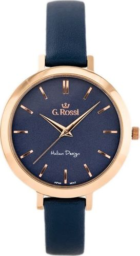 Zegarek Gino Rossi Zegarek GINO ROSSI 11389A-6F3 (zg786f) blue/r.gold uniwersalny
