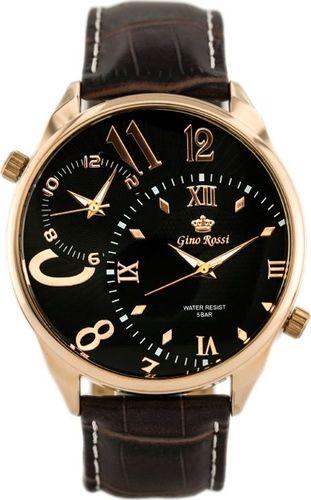 Zegarek Gino Rossi GINO ROSSI - DWA MECHANIZMY (zg010e) uniwersalny