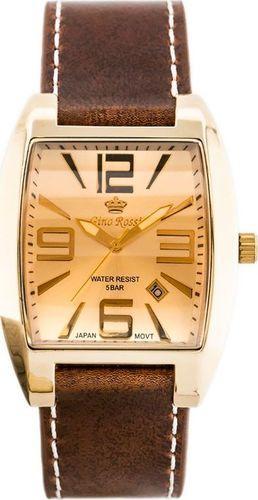 Zegarek Gino Rossi GINO ROSSI - NOBLE (zg045e) gold/brown uniwersalny