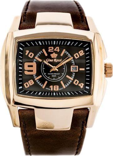 Zegarek Gino Rossi GINO ROSSI - ROCKY (zg057i) graphite/rosegold uniwersalny