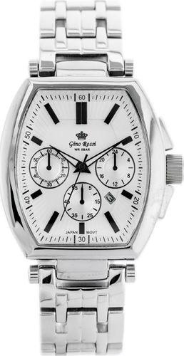Zegarek Gino Rossi GINO ROSSI - 6440B (zg012a) silver uniwersalny