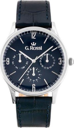 Zegarek Gino Rossi Zegarek GINO ROSSI 10737A-6F1 (zg258e) blue/silver uniwersalny