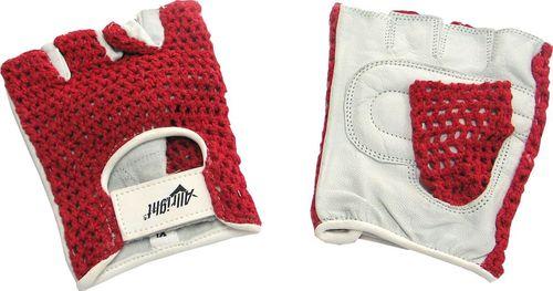 Allright Rękawiczki sportowe rowerowe siatka Red Allright rozmiar XS uniwersalny