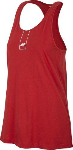 4f Koszulka damska H4L19-TSD003 czerwona r. L