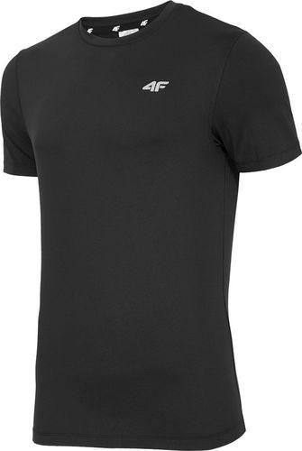 4f Koszulka męska H4Z18 TSMF001 głęboka czerń r. S