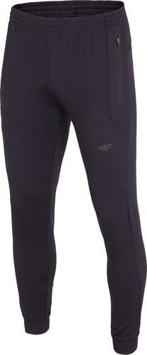 4f Spodnie męskie H4L18-SPMTR002 czarne r. XL