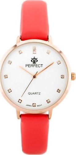 Zegarek Perfect PERFECT B7249 antyalergiczny (zp848e) coral/r.gold uniwersalny