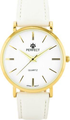 Zegarek Perfect PERFECT B7305 antyalergiczny (zp850b) white/gold uniwersalny