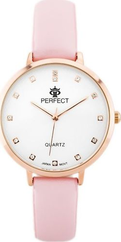Zegarek Perfect PERFECT B7249 antyalergiczny (zp848d) pink/r.gold uniwersalny