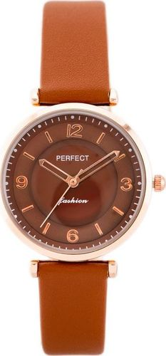 Zegarek Perfect PERFECT A3087 (zp856c) brown/rosegold uniwersalny