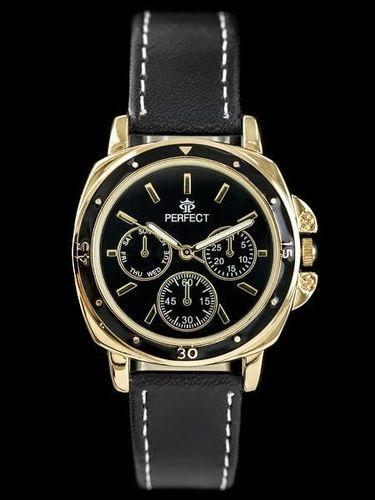 Zegarek Perfect PERFECT E602 - black/gold (zp744e) uniwersalny