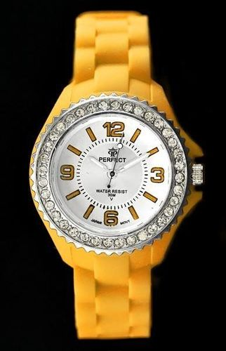 Zegarek Perfect PERFECT - JELLY + CYRKONIE (zp665c) uniwersalny