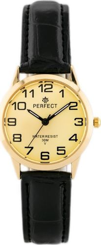 Zegarek Perfect PERFECT A4210-R - czarny / złoty (zp844c) uniwersalny
