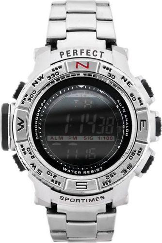 Zegarek Perfect PERFECT - A8006 (zp263a) - silver uniwersalny