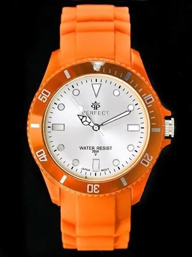 Zegarek Perfect PERFECT ICE 3 - TRUE COLOR - orange (zp701i) uniwersalny
