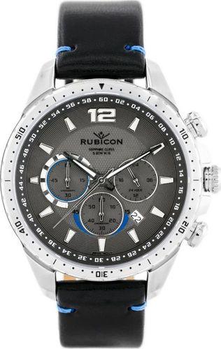 Zegarek Rubicon RUBICON RNCD98 - CHRONOGRAF (zr095c) black/silver uniwersalny