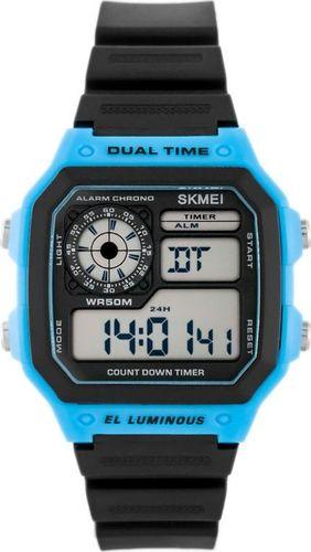 Zegarek Skmei Skmei 1299 Dual Time - (zs033b) uniwersalny