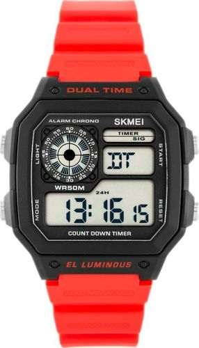 Zegarek Skmei Skmei 1299 Dual Time - (zs033c) uniwersalny