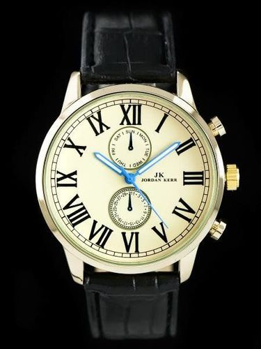 Zegarek Jordan Kerr JORDAN KERR - ROMANO - black/gold (zj050c) uniwersalny