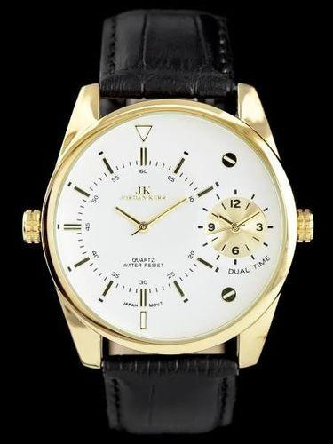 Zegarek Jordan Kerr JORDAN KERR - DUAL TIME - black/gold (zj053b) uniwersalny