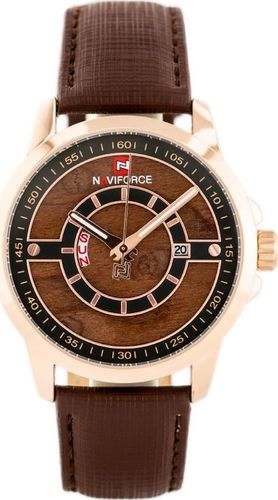 Zegarek Naviforce NAVIFORCE - NF9151 (zn082d) dark brown/rose + box uniwersalny