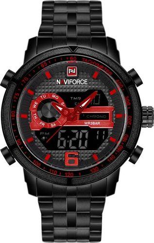 Zegarek Naviforce NAVIFORCE - NF9119 (zn066d) - black/red uniwersalny