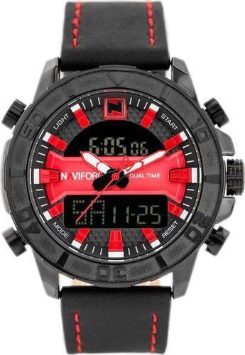 Zegarek Naviforce NAVIFORCE - NF9114 (zn046c) - black/red uniwersalny