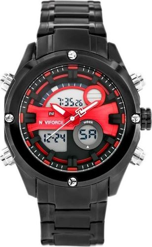 Zegarek Naviforce NAVIFORCE GLOCK (zn039c) - black/red uniwersalny