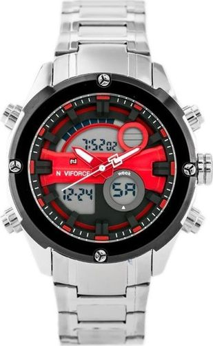 Zegarek Naviforce NAVIFORCE GLOCK (zn039a) - silver/red uniwersalny