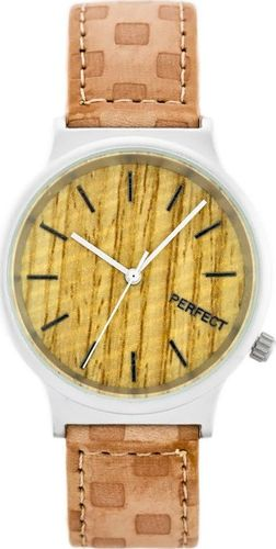Zegarek Perfect PERFECT A3040 (zp853b) beige/silver uniwersalny
